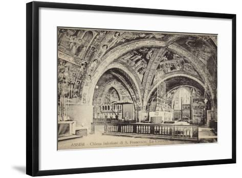 Postcard Depicting the Apse of the Basilica of San Francesco D'Assisi--Framed Art Print