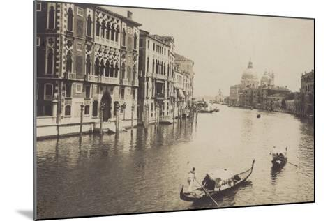 Postcard Depicting Gondolas on the Grand Canal in Venice--Mounted Photographic Print
