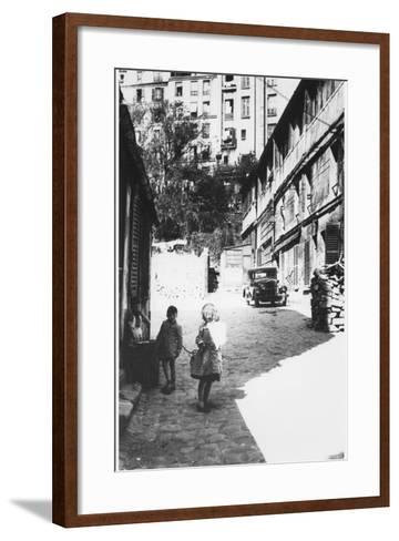 The Bateau-Lavoir, View of the Street, Montmartre, Paris, C.1950--Framed Art Print