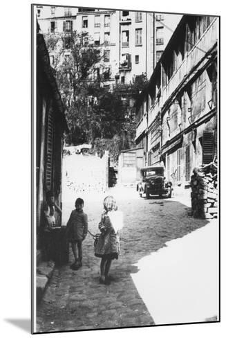 The Bateau-Lavoir, View of the Street, Montmartre, Paris, C.1950--Mounted Photographic Print