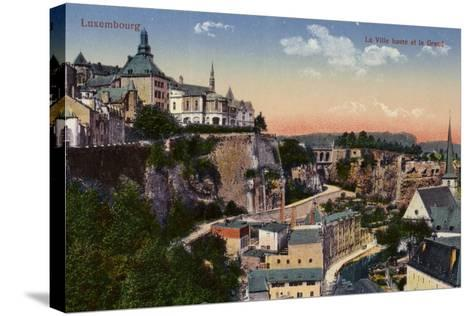 Postcard Depicting a General View of the City of Luxembourg--Stretched Canvas Print