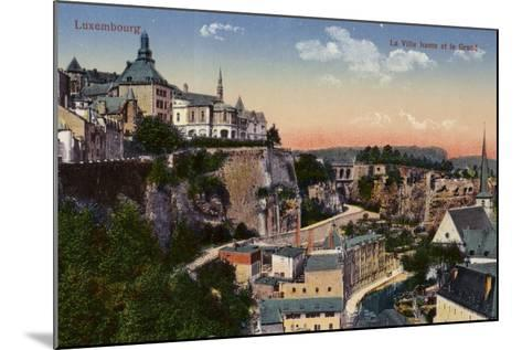 Postcard Depicting a General View of the City of Luxembourg--Mounted Photographic Print