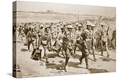 Australian Machine-Gunners Returning from the Trenches, 1916--Stretched Canvas Print