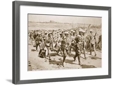 Australian Machine-Gunners Returning from the Trenches, 1916--Framed Art Print