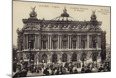 Postcard Depicting the Facade of the Palais Garnier--Mounted Photographic Print