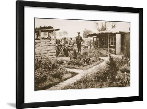 Life on the Front Line, from 'The Illustrated War News', 1915--Framed Art Print