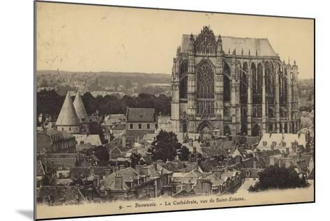 Postcard Depicting the Cathedral of Saint Peter of Beauvais--Mounted Photographic Print