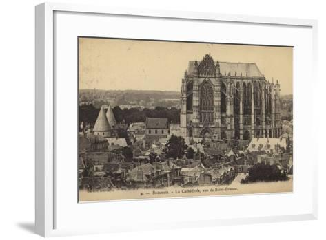 Postcard Depicting the Cathedral of Saint Peter of Beauvais--Framed Art Print