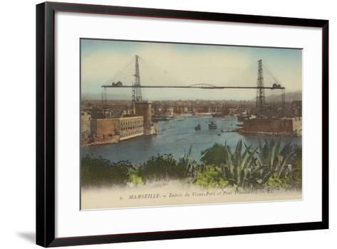 Postcard Depicting the Entrance to the Port of Marseille--Framed Art Print