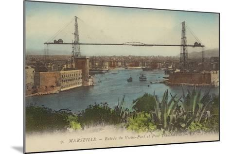 Postcard Depicting the Entrance to the Port of Marseille--Mounted Photographic Print