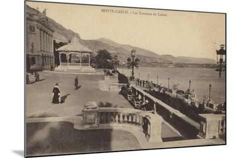 Postcard Depicting the Terrace of the Monte Carlo Casino--Mounted Photographic Print