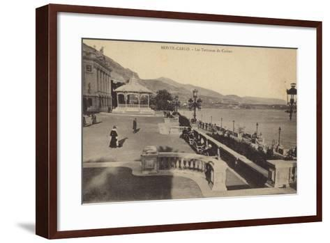 Postcard Depicting the Terrace of the Monte Carlo Casino--Framed Art Print