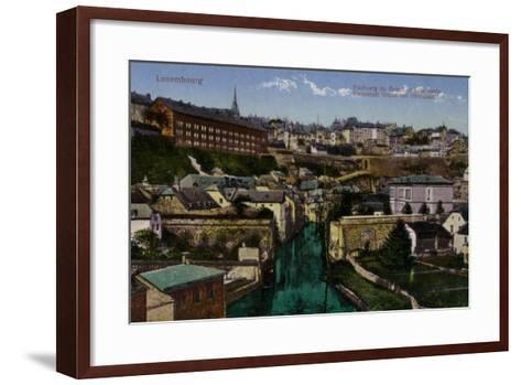 Postcard Depicting a General View of the City of Luxembourg--Framed Art Print