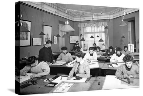 Architectural Drawing Class for Women Students in St. Petersburg--Stretched Canvas Print