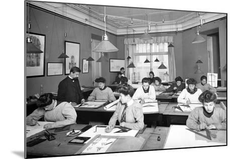 Architectural Drawing Class for Women Students in St. Petersburg--Mounted Photographic Print