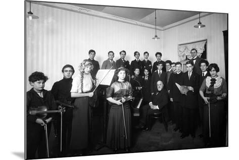 A Group of Students at the St. Petersburg Conservatoire, 1912--Mounted Photographic Print