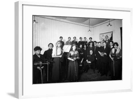 A Group of Students at the St. Petersburg Conservatoire, 1912--Framed Art Print