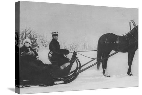 Tsesarevich Alexi Nikolaevich Travelling by Sleigh--Stretched Canvas Print