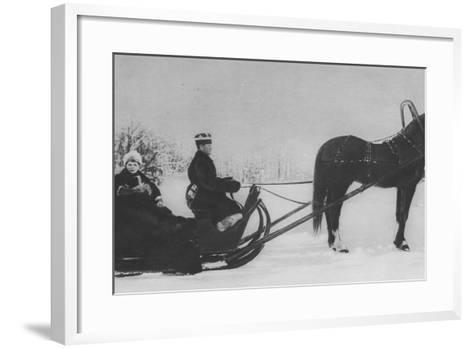 Tsesarevich Alexi Nikolaevich Travelling by Sleigh--Framed Art Print