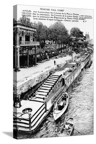 Barges of Paul Poiret at the Exposition Des Arts Décoratifs, Paris, 1925--Stretched Canvas Print