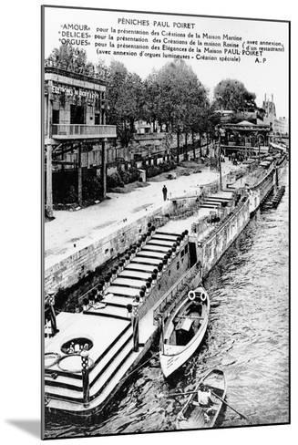 Barges of Paul Poiret at the Exposition Des Arts Décoratifs, Paris, 1925--Mounted Photographic Print