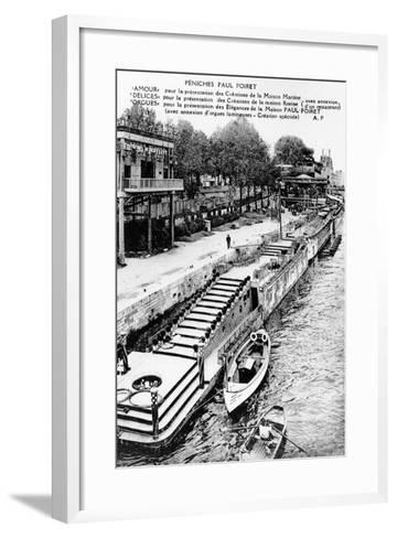 Barges of Paul Poiret at the Exposition Des Arts Décoratifs, Paris, 1925--Framed Art Print
