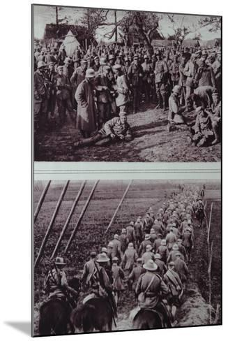 German Prisoners Captured by the Australians, 1914-18--Mounted Photographic Print