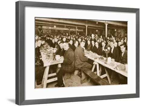 Dining Room at the Church Army Home at Westminster--Framed Art Print
