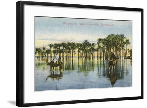 Submerged Palm Trees During the Nile Floods, Egypt--Framed Art Print