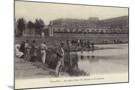 Postcard Depicting Fishing in the Grounds of the Palace of Versailles--Mounted Photographic Print