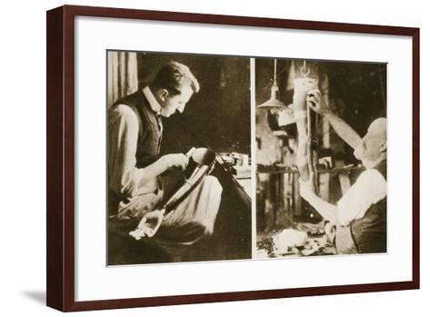 Artificial Limbs Manufactured in a German Factory-German photographer-Framed Art Print