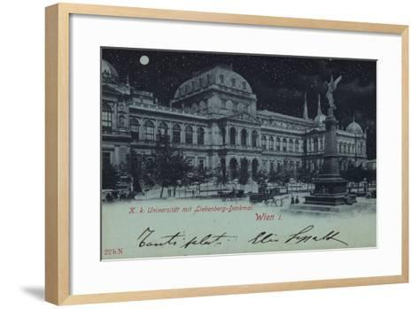 Postcard Depicting the Liebenberg Monument and the University of Vienna--Framed Art Print