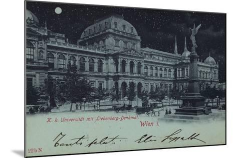 Postcard Depicting the Liebenberg Monument and the University of Vienna--Mounted Photographic Print