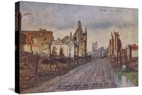 Ypres, Belgium, after Two Years of War, World War I--Stretched Canvas Print