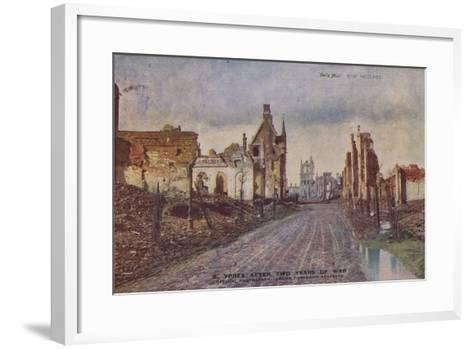 Ypres, Belgium, after Two Years of War, World War I--Framed Art Print