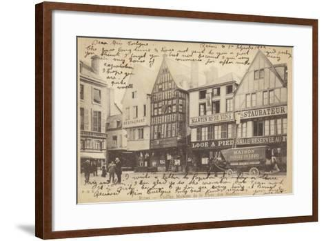 Postcard Depicting Old Houses in the Place Des Marches--Framed Art Print