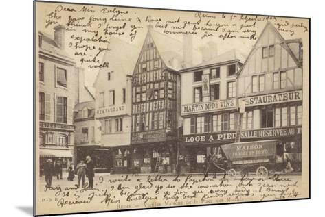 Postcard Depicting Old Houses in the Place Des Marches--Mounted Photographic Print