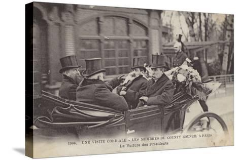 Visit of Members of the London County Council to Paris, 1906--Stretched Canvas Print
