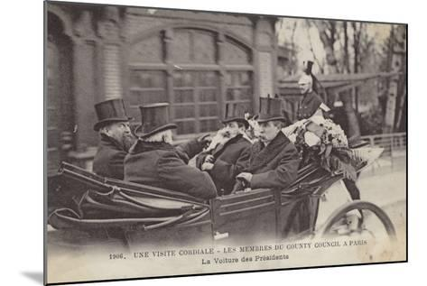 Visit of Members of the London County Council to Paris, 1906--Mounted Photographic Print