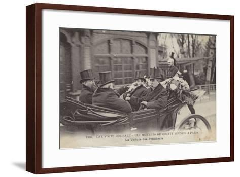 Visit of Members of the London County Council to Paris, 1906--Framed Art Print
