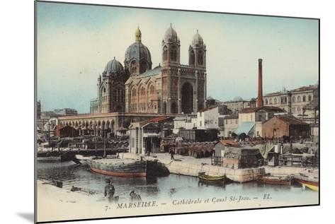 Postcard Depicting the Cathedral and Canal Saint-Jean--Mounted Photographic Print