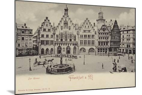 Postcard Depicting a General View of the Romer Area of Frankfurt--Mounted Photographic Print