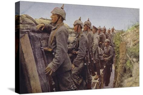 German Soldiers Awaiting the Enemy in a Trench, World War I, 1914-1916--Stretched Canvas Print