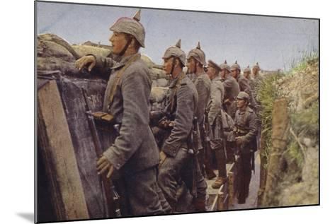 German Soldiers Awaiting the Enemy in a Trench, World War I, 1914-1916--Mounted Photographic Print