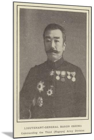 Lieutenant-General Baron Oshima, Commanding the Third--Mounted Photographic Print
