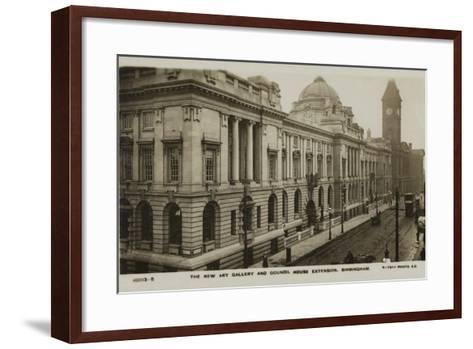 The New Art Gallery and Council House Extension, Birmingham--Framed Art Print