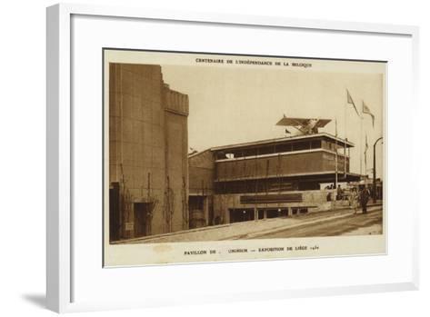 Aluminium Pavilion, International Exposition, Liege, Belgium, 1830--Framed Art Print