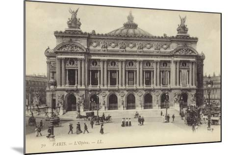 Postcard Depicting the Facade of the Palais Garnier--Mounted Photographic Print