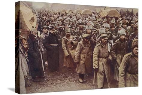 Evacuation of Russian Prisoners, World War I, 1914-1915--Stretched Canvas Print