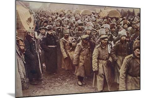 Evacuation of Russian Prisoners, World War I, 1914-1915--Mounted Photographic Print